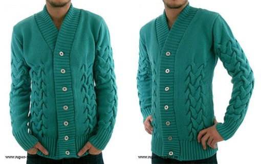 sns-herning-banded-cardigan-sweater-front