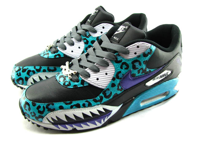 san francisco 5dc40 e18d0 ... best shoes on sbtg sawtooth series air max 90 broccolicity sbtg  sawtooth series air max 90 ... nike air max 90 shark attack nightmare  custom made unisex ...